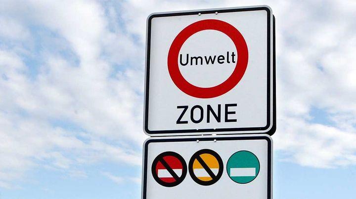 Waar in Duitsland is de milieusticker verplicht?